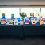 Books written or edited by SJSU faculty members were displayed at the Annual Author Awards in October.