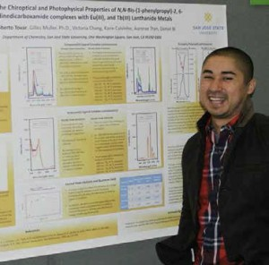Roberto Tovar, '15 Chemistry, is one of four SJSU alumni or students recognized in the October edition of the LSAMP program.