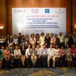 Members of the San Jose State Social Work Education Enhancement Project and partners in Viet Nam pose for a group picture.