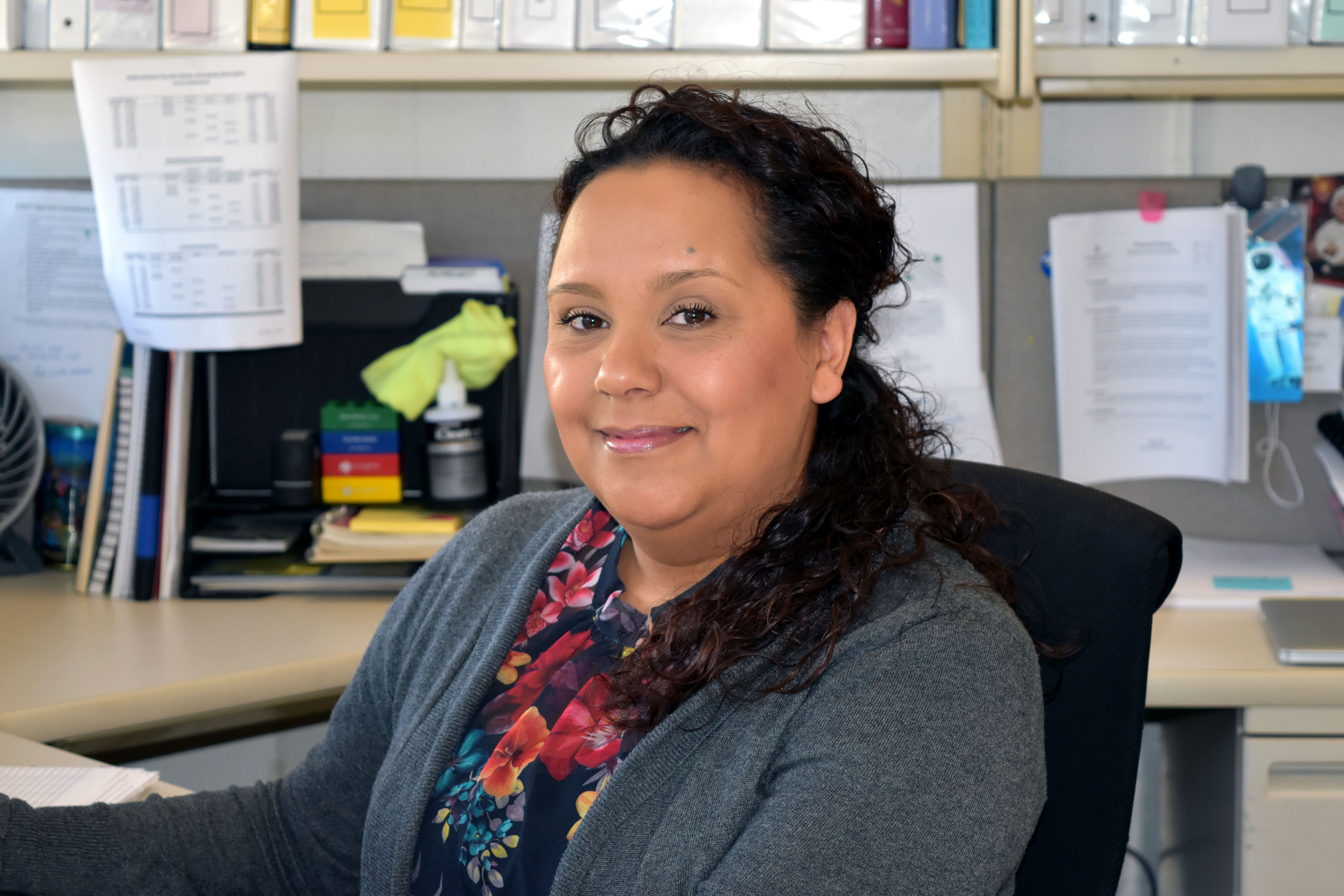 Sarah Arreola works full-time in the Connie L. Lurie College of Education while she completes an master's of public administration.