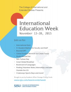 Flier for International Education Week.