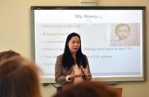Dr. Van Ta Park shares her background as a Vietnamese refugee and the role of personal connection in improving resources for dementia caregivers.