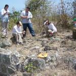Students document a plantation cookhouse