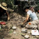 Students start a unit at an excavation site.