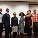 College of Social Sciences graduate students John Linford, Joseph Holman, Ana Lucrecia Rivera, Ida Wilson, Christal West and Matthew Gloria-Dalton presented their research at the Graduate Student Colloquia in April.
