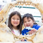 Children looked at skeletons of marine animals at the Moss Landing Marine Lab Open House.