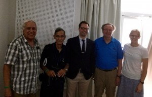 Dr. Kelly Resa, far right, spoke at the International Symposium of Chemistry in Cuba. She is pictured here with Dr. Luis Montero Cabrera, Dr. Manuel Alvarez Prieto, Dr. Thomas Bussey and Dr. Charles Atwood.