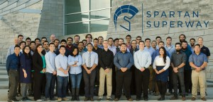 Members of the Sustainable Mobility System for Silicon Valley team for 2015-16 posed for a photo.