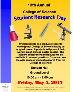 Student Research Day Flier