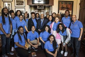 Photo: Michael Cheers San Jose State Spartans meet with Congressman and Civil Rights icon John Lewis during an alternative spring break trip in March.