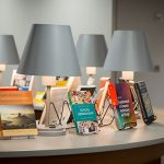 Books and publications are displayed at the 2017 Author and Artist Awards Nov. 3.