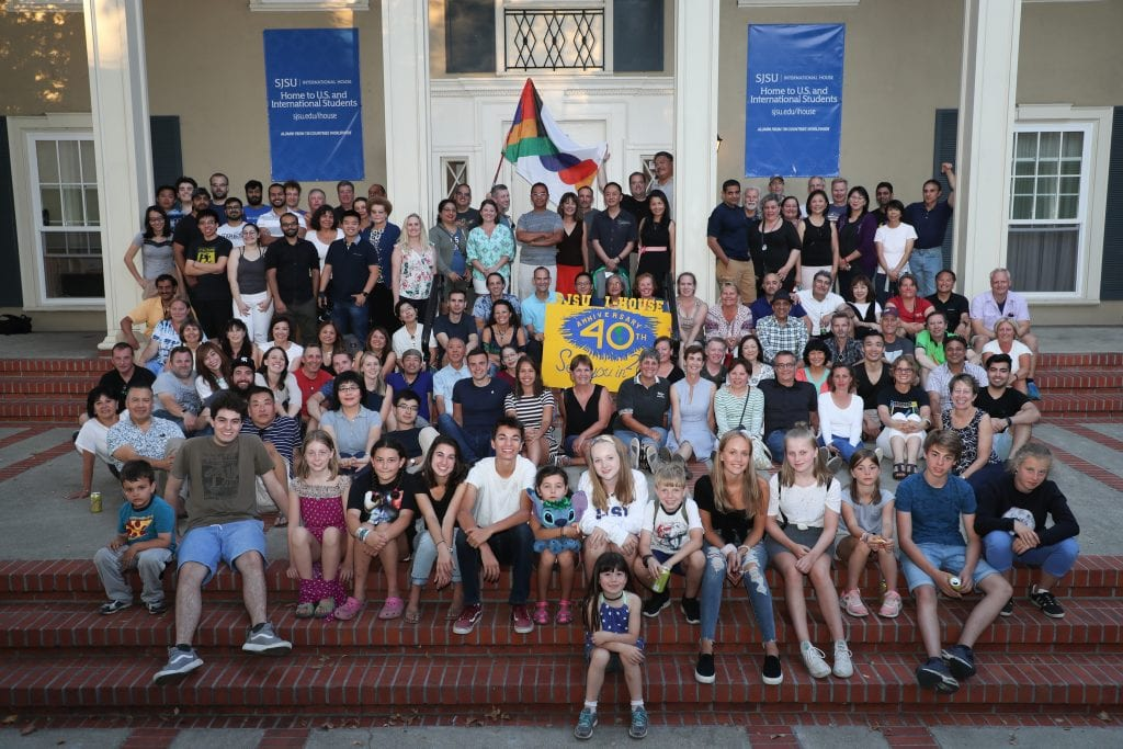 San Jose State University Alumni gather at International House for the 40th anniversary of the organization on Friday, Aug. 3, 2018. (Photo: Jim Gensheimer)