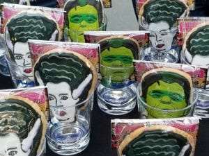 The College of Humanities and the Arts served Frankenstein cookies at its fall welcome event.