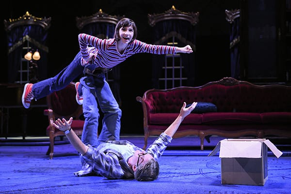 A scene from the musical Fun Home shows the set design of SJSU Assistant Professor Andrea Bechert.