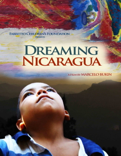"""""""Dreaming Nicaragua"""" poster showing child looking upward, as if to dream."""
