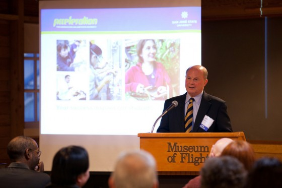 President Kassing speaking in Seattle
