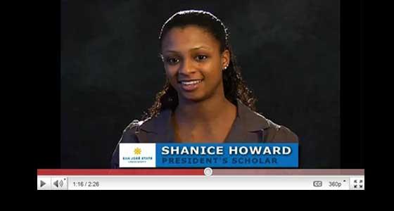 Shanice Howard, President's Scholar