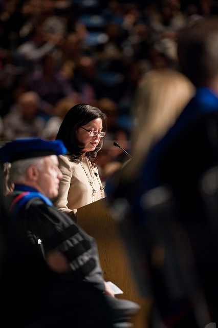 Charlotte Russe's CEO Jenny Ming Speaks to Business Graduates
