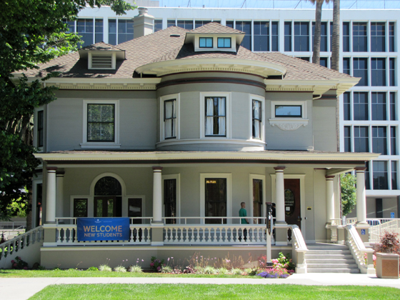 This is an image of the A.S. House, headquarters of Associated Students.