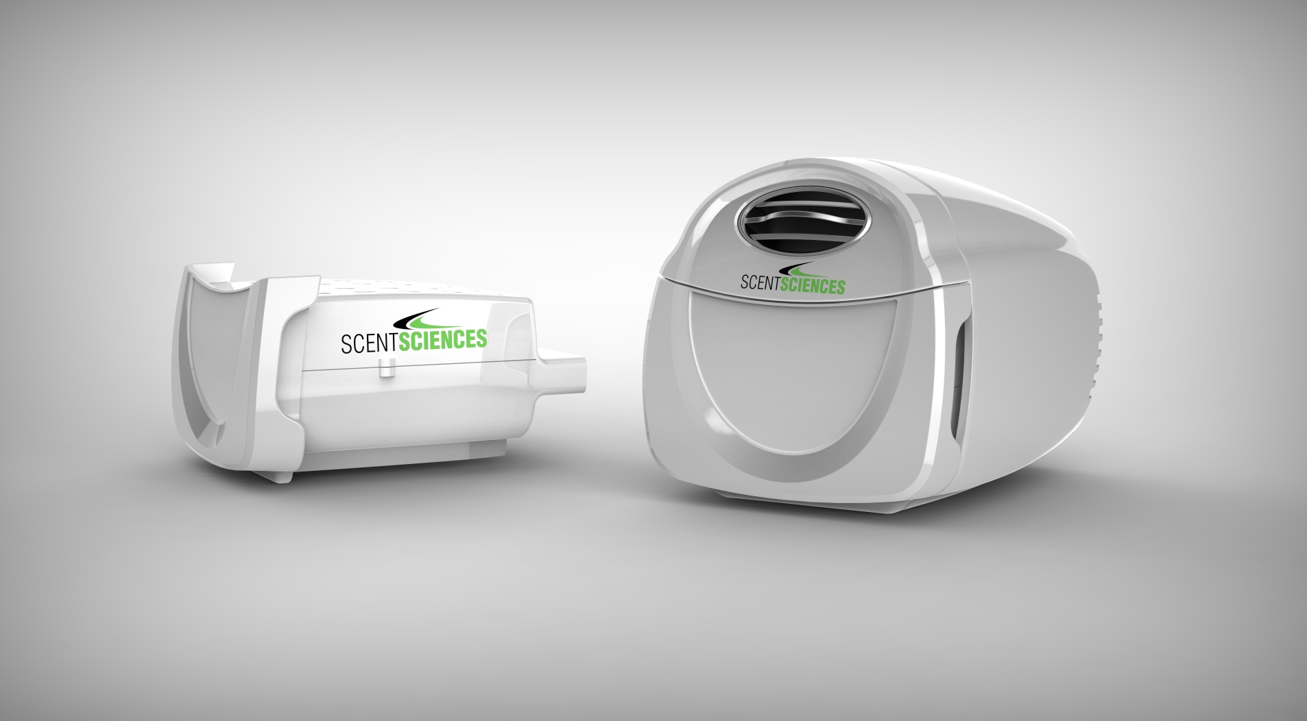 This is a photo of Scent Science Corporation's product, ScentScape, which digitally emits scents.