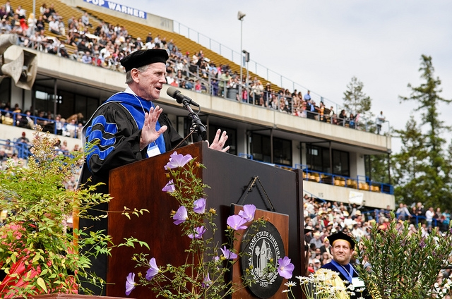 """Commencement Speaker Jim Thompson Urges Graduates to """"See More of This World"""""""
