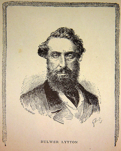 This is a sketch of Edward George Bulwer-Lytton, the namesake of SJSU's Bulwer-Lytton Fiction Contest. mage courtesy of El Bibliomata.