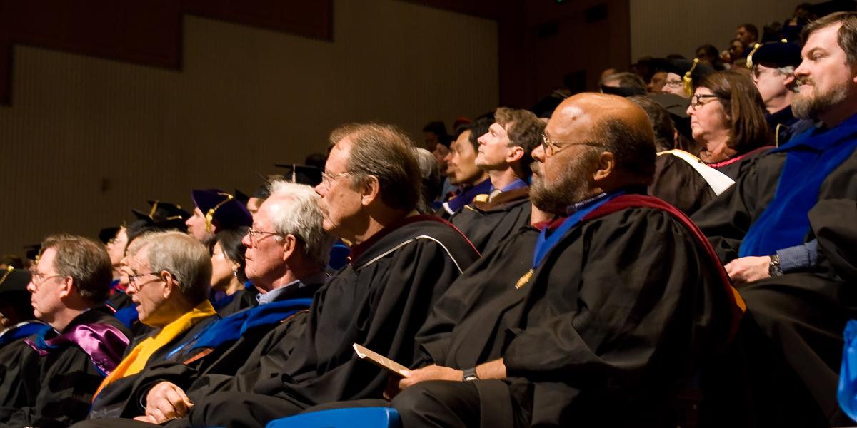 faculty in regalia