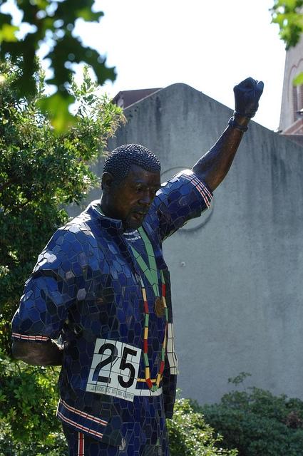 John Carlos in sculpture