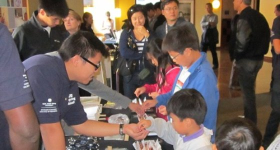 Engineering Students Help Kids Discover Science at AT&T Park