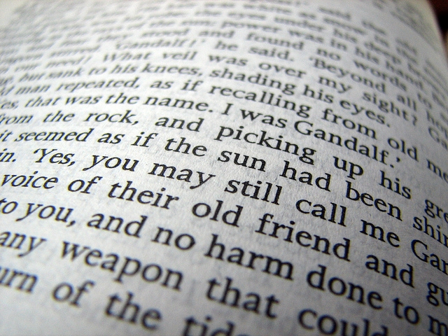 close up of a book
