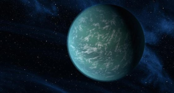 image of blue and green planet in space