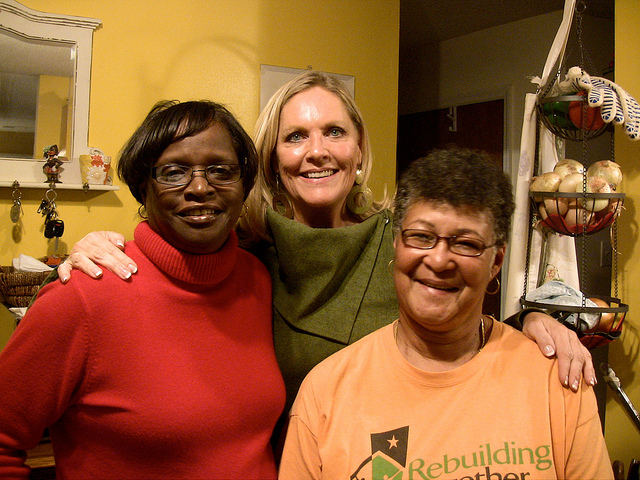 """Phyllis Slack, Dona Hodge Nichols and Linda Harris reunited 47 years after their Savannah, Ga. school was integrated for the first time. Slack and Harris were the first blacks to integrate the all-white Southern school and are now the subject of a documentary by Nichols titled, """"The Token From Montgomery Cross Road."""" (Dona Nichols image)"""