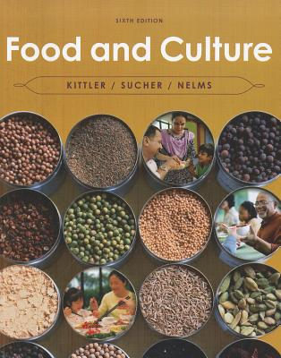 Picture of a Food and Culture book that has bowls of spices and people of different cultures