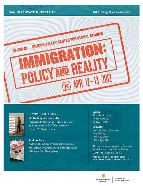 Immigration Symposium flyer