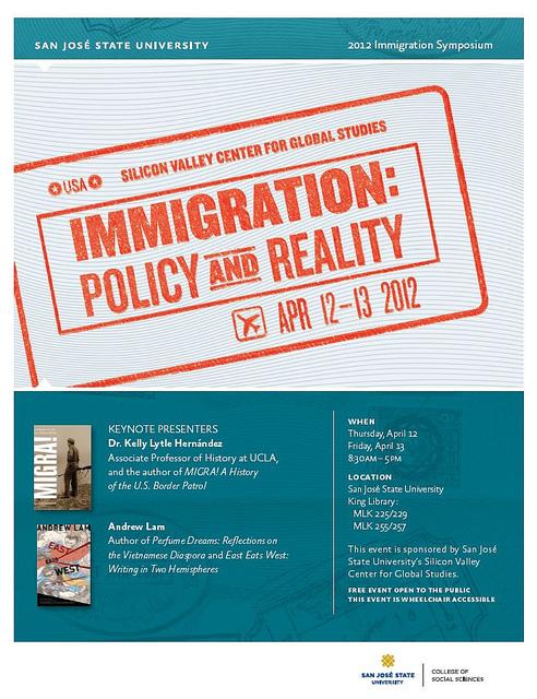 Immigration Symposium flyer