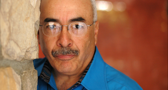 A close-up portrait of Juan Felipe Herrera (photo courtesy of University of California, Riverside)