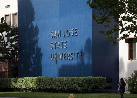 SJSU campus sign
