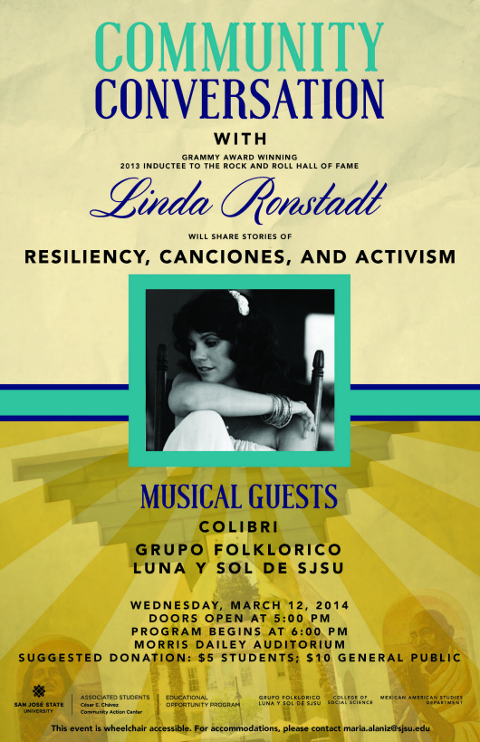 Linda Ronstadt to Speak at SJSU