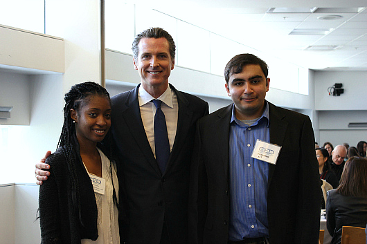 Lt. Gov. Gavin Newsom gave the keynote address at a Committee for Economic Development event held at King Library (JP Tran photo).