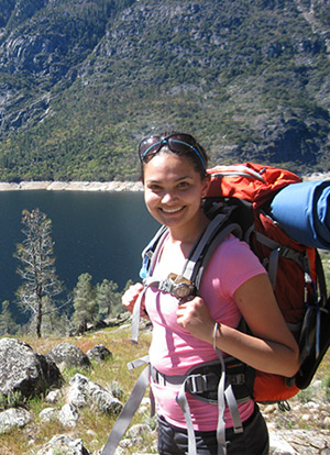 Erika Ghose overlooking Hetch Hetchy Reservoir, Yosemite National Park 2013. (Kevin Brown photo)