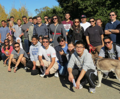 engineering students visit water resources