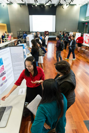 Students present their ideas at the Silicon Valley Innovation Challenge Showcase Nov. 19 in the Student Union (Robert C. Bain photo).
