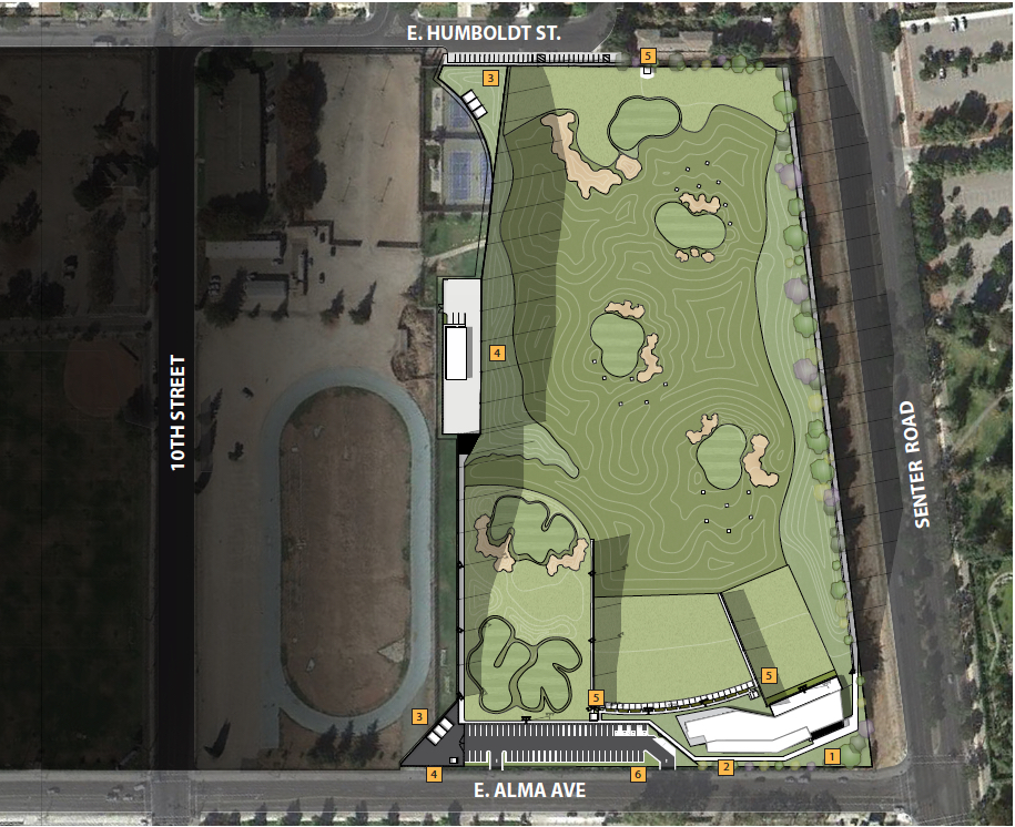 Spartan Golf Complex map (courtesy of SJSU Athletics)
