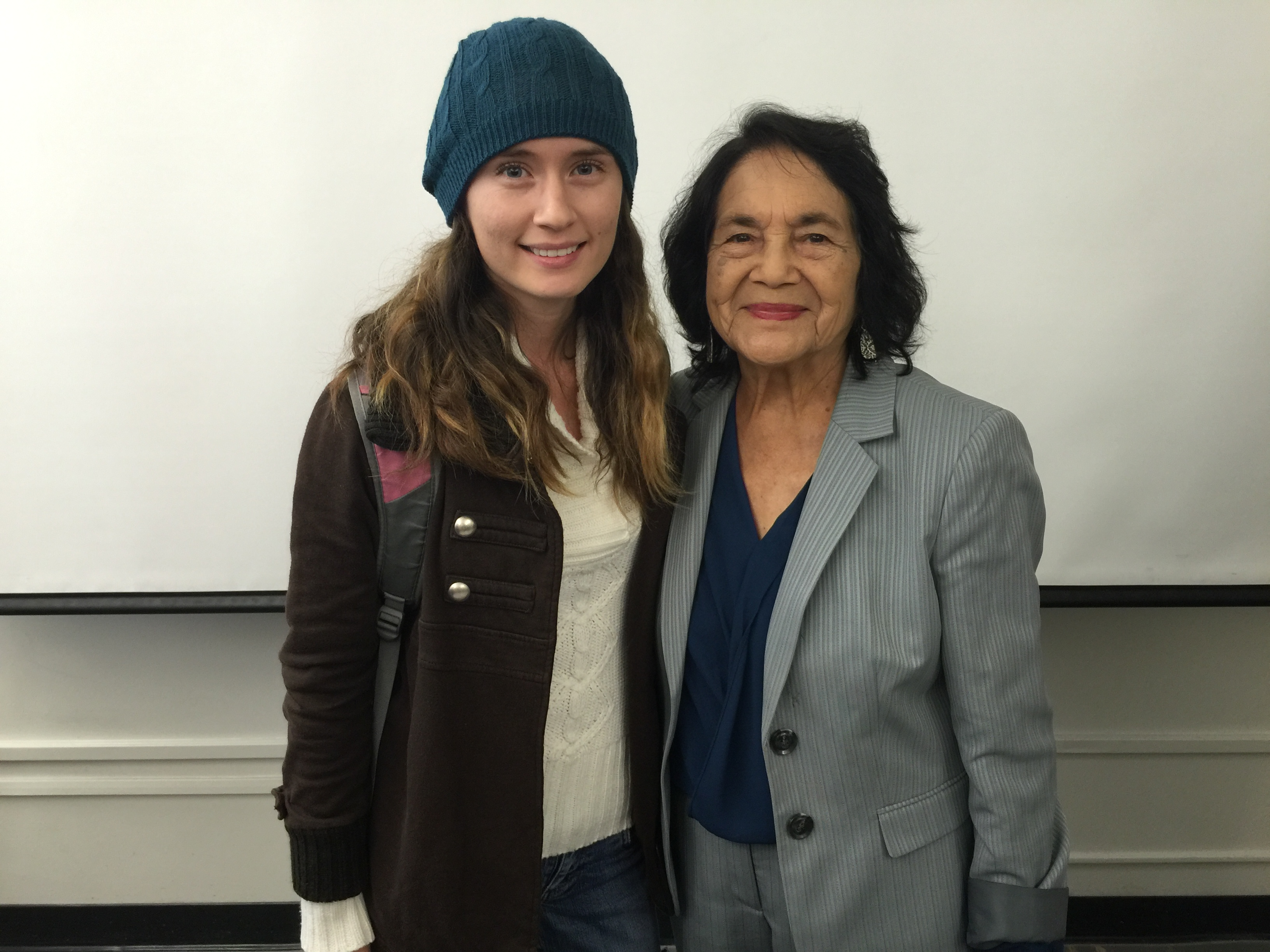 Anna Santana with civil rights activist Dolores Huerta (photo courtesy of Anna Santana)