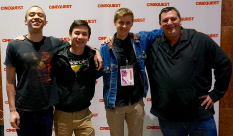 Left to right, Actor Danny Spiteri, Cinematographer Stephen Nguyen, Director Patrick Mattes, and Co-writer/Producer Jacob Ohlhausen pose at Cinequest after the premiere of 'Disaffected Youth.' (Photo: Cindy Maram)