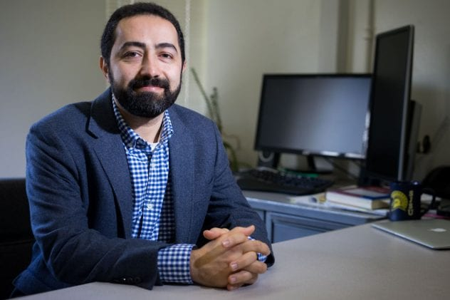 Ehsan Khatami is one of two San Jose State University faculty members selected as an Early Career Investigator Award winners in 2017-18. (Photo: James Tensuan, '15 Journalism)