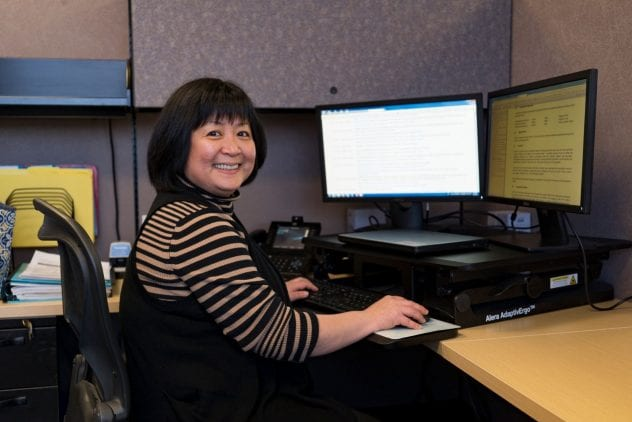 The Research Foundation provides important support and resources that help faculty and students engage in research, scholarship and creative activities.Diem Trang Vo works as a post-award manager at the SJSU Research Foundation. Photo by Brandon Chew