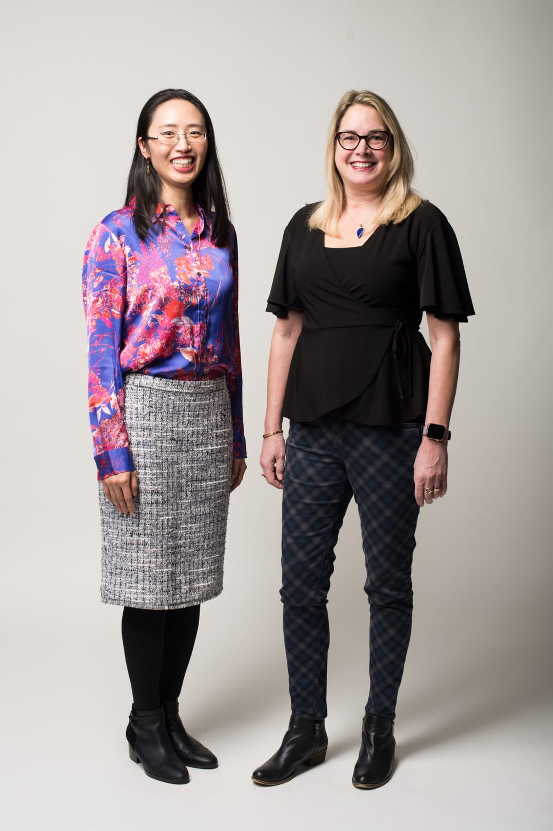 The Research Foundation announced the 2018 Early Career Investigator Award recipients March 8. Assistant Professor Minghui Diao, Department of Meteorology and Climate Science, College of Science, left, and Assistant Professor Susan Snycerski, from the Department of Psychology, College of Social Sciences, will receive their awards on April 23 at the SJSU Celebration of Research.