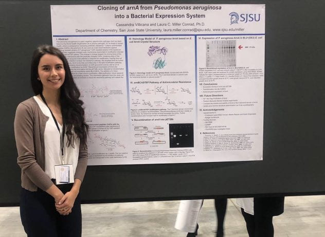 Cassandra Villicana presented her research at the Annual Biomedical Research Conference for Minority Students.