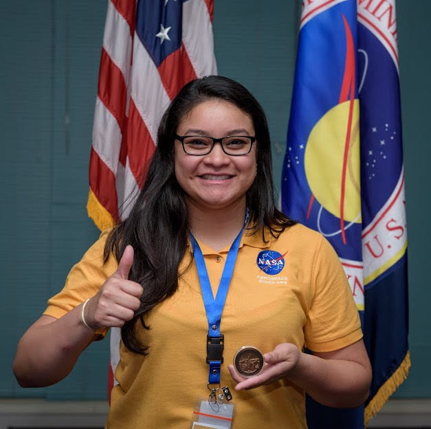 Andrea Coto, '19 Civil Engineering, participated in NASA's Community College Aerospace Scholars program while earning an associate's degree.